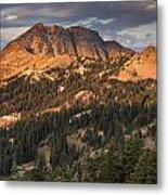 Alpenglow On Brokeoff Mountain Metal Print