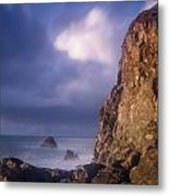Alpenglow On Wedding Rock Metal Print