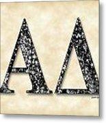 Alpha Delta - Parchment Metal Print