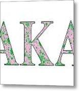 Alpha Kappa Alpha - White Metal Print