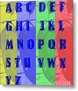 Alphabet With Apples Metal Print