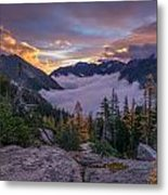 Alpine Lakes Morning Cloudscape Metal Print