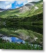 Alpine Reflections Metal Print