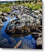 Alpine Stream Beartooth Mounain Range Metal Print by Edward Fielding