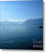 Alps And Leman Lake Metal Print