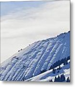 Alps Profile Metal Print