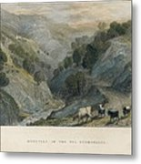 Alps. Shepherd In Germanasca Valley Metal Print