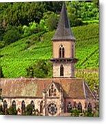 Alsace Church Metal Print