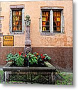 Alsace Fountain Metal Print