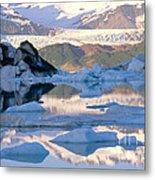 Alsek Glacier In St. Elias Mountains Metal Print