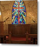 Altar At The Little Church In La Villita Metal Print