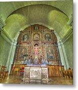 Altar In An Old Chapel Metal Print