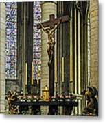 Altar Of Rouen Cathedral Metal Print