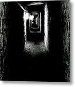 Altered Image Of The Catacomb Tunnels Paris France  Metal Print