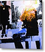 Alternate Reality - Photographer On Fire Metal Print