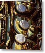 Alto Sax Reflections Metal Print