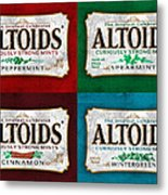 Altoids Collection Scratches Metal Print