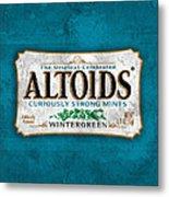 Altoids Wintergreen Scratches Metal Print