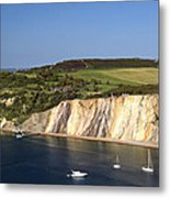 Alum Bay And The Coloured Sand Cliffs Metal Print
