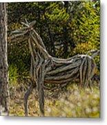 Alys Beach Driftwood Horse Metal Print