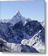 Ama Dablam Mountain Seen From The Summit Of Kala Pathar In The Everest Region Of Nepal Metal Print