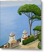 Amalfi Coast From Ravello Metal Print