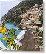 Amalfi Coast Town Metal Print by George Oze