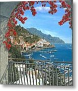 Amalfi Vista Metal Print