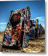 Amarillo - Cadillac Ranch 004 Metal Print by Lance Vaughn
