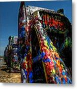 Amarillo -  Cadillac Ranch 006 Metal Print