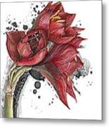 Amaryllis Flowers - 2. -  Elena Yakubovich Metal Print