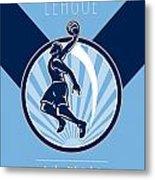 Amateur Basketball League Retro Poster Metal Print by Aloysius Patrimonio