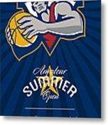 Amateur Summer Basketball League Open Poster Metal Print by Aloysius Patrimonio