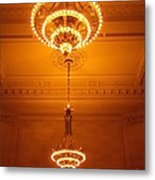 Amazing Antique Chandelier - Grand Central Station New York Metal Print
