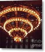 Amazing Art Nouveau Antique Chandelier - Grand Central Station New York Metal Print