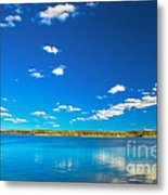 Amazing Clear Lake Under Blue Sunny Sky Metal Print