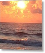 Amazing Golden Lavender South Carolina Sunrise Metal Print
