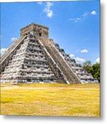 Amazing Mayan Pyramid At Chichen Itza Metal Print