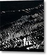 Amazing Rice Terrace In Black And White Metal Print