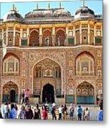 Amber Fort Entrance To Living Quarters - Jaipur India Metal Print