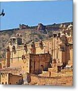 Amber Fort View - Jaipur India Metal Print