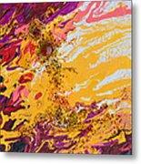 Amber Sun Metal Print
