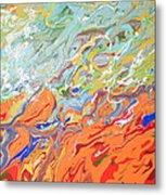 Amber Waves Metal Print