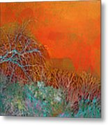 Amber Winter Metal Print