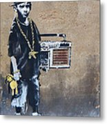 Ambivalence Banksy Metal Print