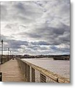Amble Harbour And Village Metal Print