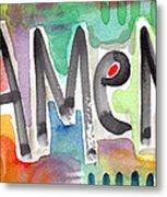 Amen Greeting Card Metal Print