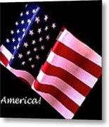 America Greeting Card Metal Print