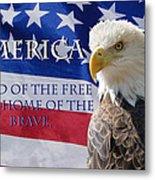 America Land Of The Free Metal Print