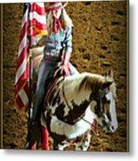America -- Rodeo-style Metal Print